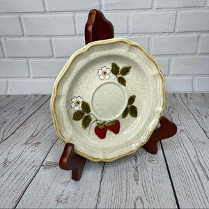 "Mikasa Strawberry Festival Saucer Plate 6"""